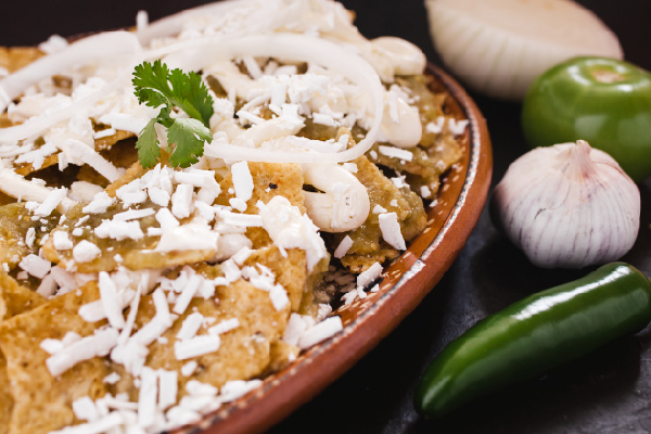 chilaquiles chilli and cream