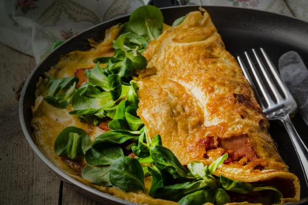 tortilla de huevo vegetariana